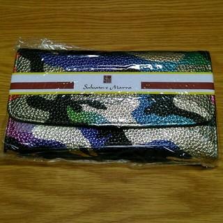 シマムラ(しまむら)のカモフラージュ柄長財布 迷彩 ゴールド カラフル(財布)