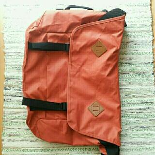 ムジルシリョウヒン(MUJI (無印良品))の無印良品 2WAYオレンジショルダーバッグ/バッグパック(リュック/バックパック)
