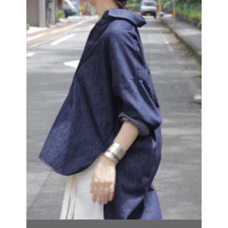 エンフォルド(ENFOLD)のエンフォルド2016SS☆即完売 デニムシャツ☆38(シャツ/ブラウス(長袖/七分))