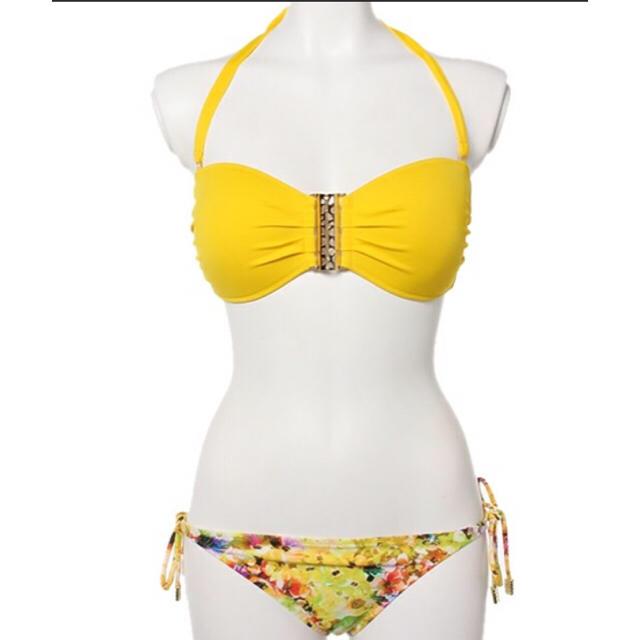 AI Pink 水着 ビキニ バンドゥ イエロー 黄色  レディースの水着/浴衣(水着)の商品写真