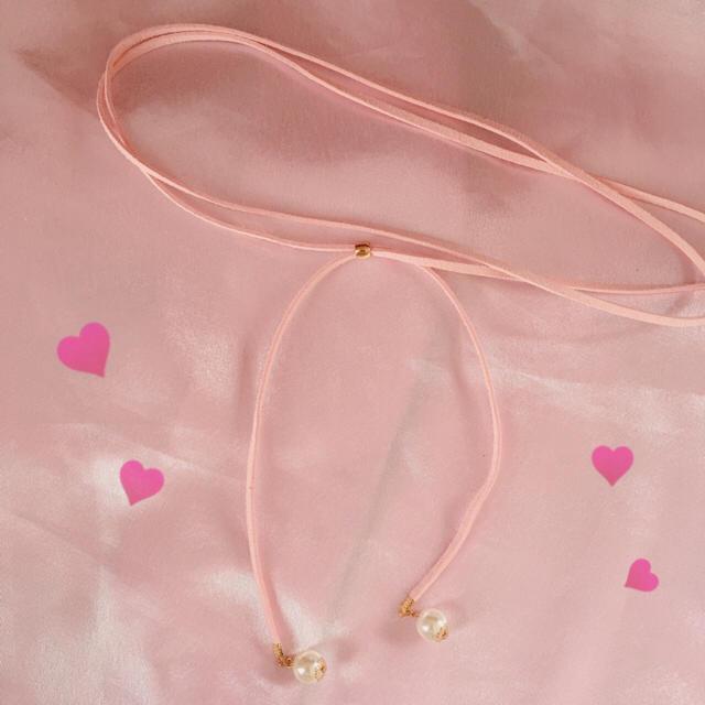 SPINNS(スピンズ)のピンクチョーカー レディースのアクセサリー(ネックレス)の商品写真