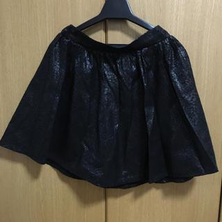 ザラ(ZARA)のレオパード柄 フェイクレザースカート(ミニスカート)