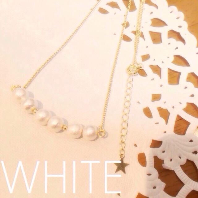 No.14 ネックレス(ホワイト) レディースのアクセサリー(ネックレス)の商品写真