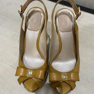 ディオール(Dior)の正規品 ディオール リボン オープン パンプス ウェッジソール(ハイヒール/パンプス)