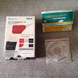 エヌイーシー(NEC)のNEC モバイルWIMAXルーター用の箱/つなぎかたガイド/取扱説明書CDのみ(PC周辺機器)