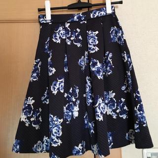 ジャスグリッティー(JUSGLITTY)のジャスグリッティー フラワー フレアスカート♡(ひざ丈スカート)