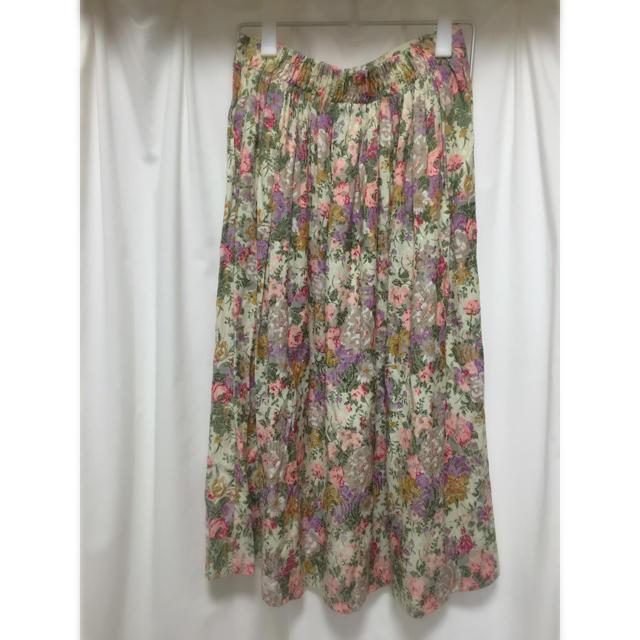 古着 / 花柄 ロング スカート レディースのスカート(ロングスカート)の商品写真