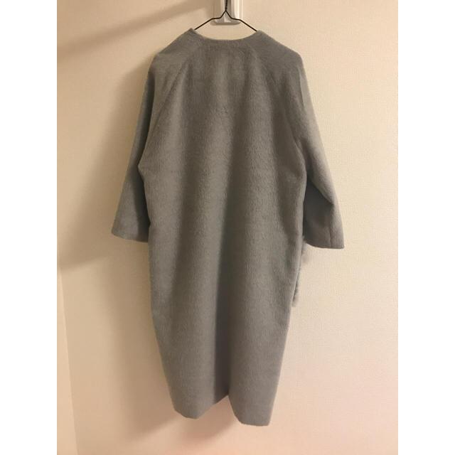 GRL(グレイル)のGRL♡ノーカラーポケットファーコート(グレー) レディースのジャケット/アウター(ロングコート)の商品写真