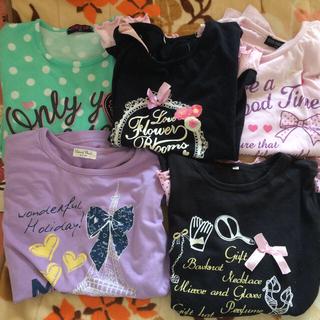 シマムラ(しまむら)の子供服5点セット160センチ(Tシャツ/カットソー)