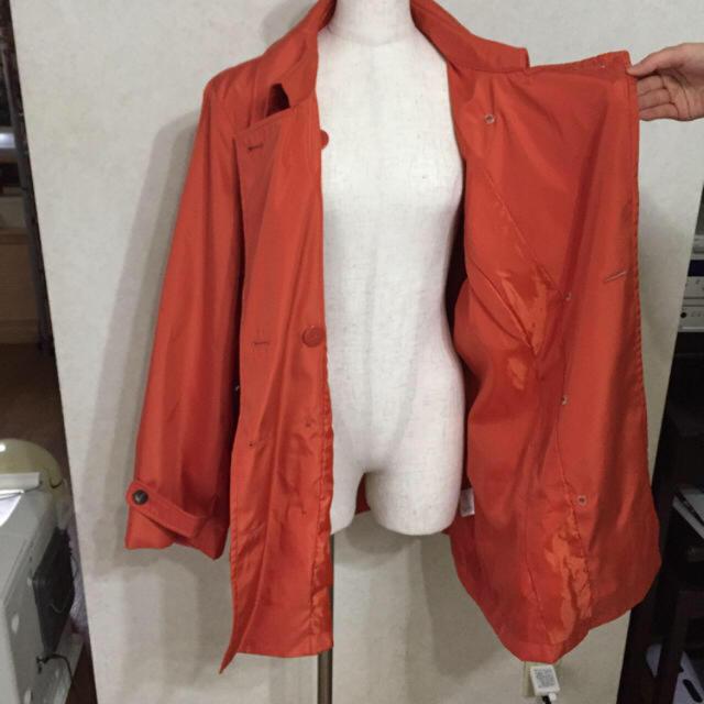 オレンジコート 17号 一度のみ着用 レディースのジャケット/アウター(トレンチコート)の商品写真