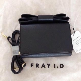 フレイアイディー(FRAY I.D)のリボンポーチ(財布)
