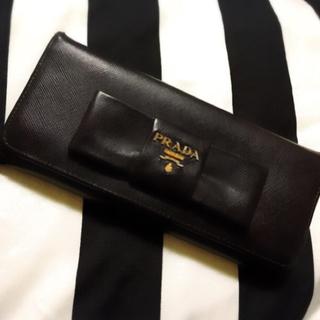 PRADA(プラダ)のプラダ サファイアーノリボン 長財布 レディースのファッション小物(財布)の商品写真