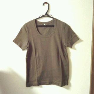 ムジルシリョウヒン(MUJI (無印良品))の無印良品 茶Tシャツ(Tシャツ(半袖/袖なし))