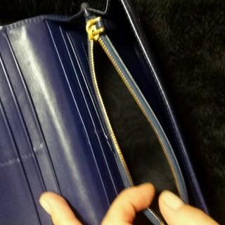 PRADA(プラダ)のプラダ★長財布 キルティング ブルー PRADA レディースのファッション小物(財布)の商品写真