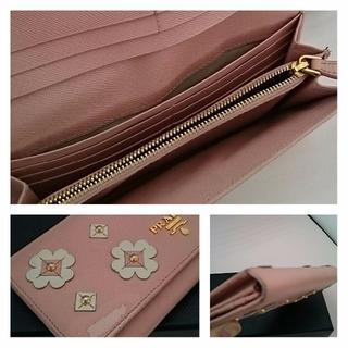PRADA(プラダ)の正規品☆PRADA プラダ 長財布 花柄 ピンク レディースのファッション小物(財布)の商品写真