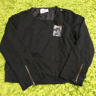 ナイスクラップ(NICE CLAUP)のジャケット 黒 スプリングコート(スプリングコート)