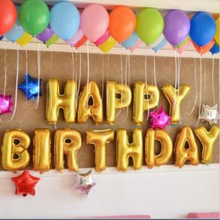 プラダ(PRADA)のお誕生日バルーン♡ゴールド♡HAPPYBIRTHDAY(置物)