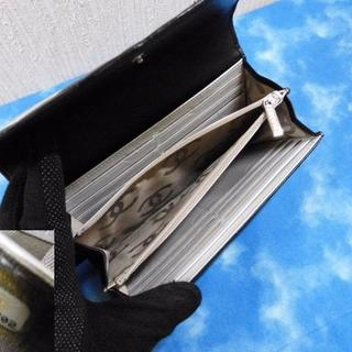 CHANEL(シャネル)の質屋★鑑定済 シャネル 長財布 カンボン シルバーココ 良品 レディースのファッション小物(財布)の商品写真