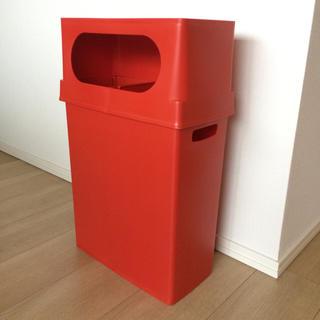 フランフラン(Francfranc)の分別スリムゴミ箱 ideaco イデアコ +2b レッド 赤(ごみ箱)