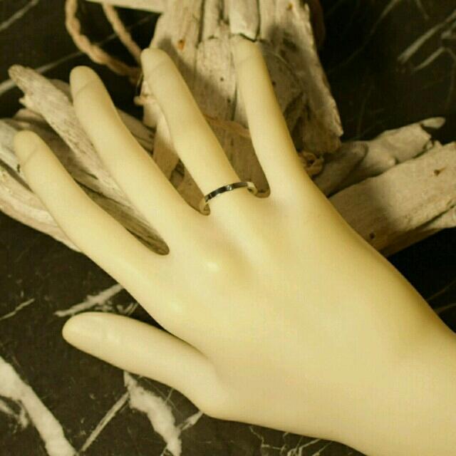 刻印無料 ペアリング スリムプレーンジルコニア リング シルバー 2個 新品 レディースのアクセサリー(リング(指輪))の商品写真