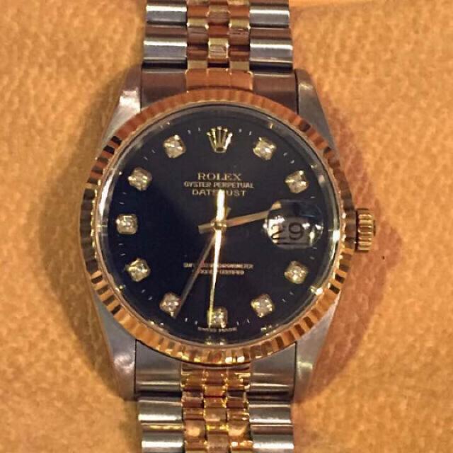 separation shoes 2e432 d714c ロレックス デイトジャスト メンズ 腕時計16233G 10ポイントダイヤ | フリマアプリ ラクマ
