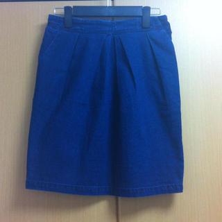 ジエンポリアム(THE EMPORIUM)のデニムのコクーンスカート(ひざ丈スカート)