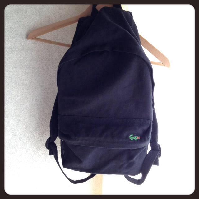 MUJI (無印良品)(ムジルシリョウヒン)の無印コットンリュック◎ワニ付き レディースのバッグ(リュック/バックパック)の商品写真