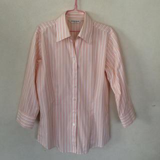 シャツ(shirts)の美品☆シャツプラザ ストライプシャツ(シャツ/ブラウス(長袖/七分))