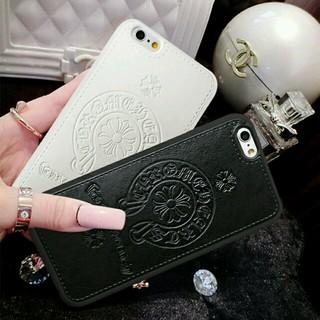 クロムハーツ(Chrome Hearts)のiPhone6sスマホケース黒と白の2点セット★最新クロムハーツデザイン (iPhoneケース)