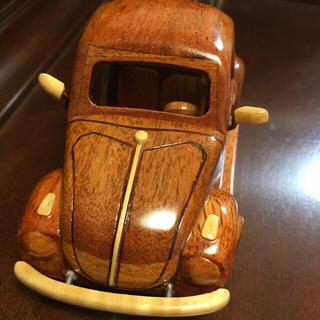 フォルクスワーゲン(Volkswagen)の値下新品!フォルクスワーゲン ビートル 木製 ミニカー クラシックカー オブジェ(ミニカー)