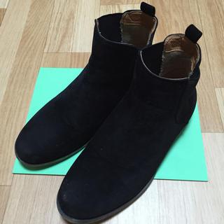 ジーユー(GU)のサイドゴアブーツ ブラック(ブーツ)