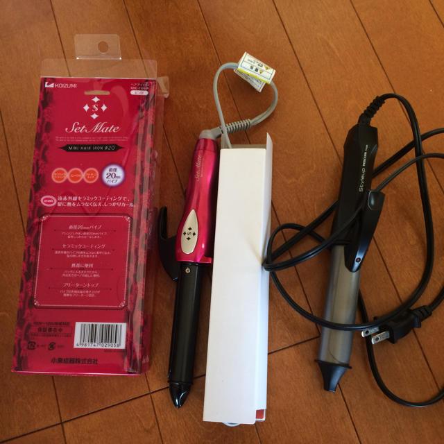 コテ 20mm ミニヘアアイロン 遠赤外線セラミックコーティング ピンク スマホ/家電/カメラの美容/健康(ヘアアイロン)の商品写真