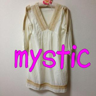 ミスティック(mystic)の早い者勝ち♡mystic刺繍シャツワンピ(ひざ丈ワンピース)