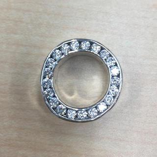 イーエムノアール(e.m. noir)のe.m ジルコニア埋め込みリング11号  シルバー(リング(指輪))