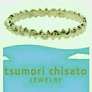ツモリチサト(TSUMORI CHISATO)の新品☆イエローゴールド10Kネコエタニティリング / ツモリチサトジュエリー  (リング(指輪))