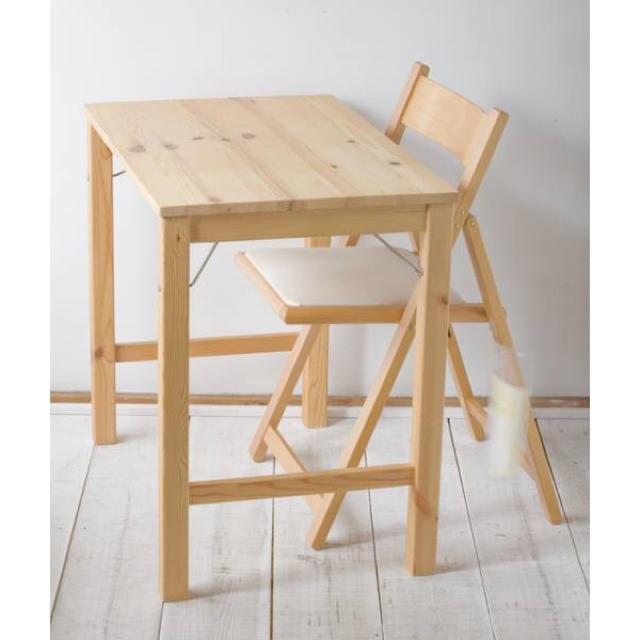 MUJI (無印良品)(ムジルシリョウヒン)のパイン材折りたたみテーブル&椅子 インテリア/住まい/日用品の机/テーブル(折たたみテーブル)の商品写真