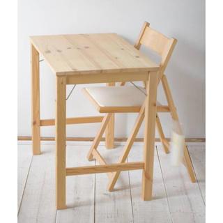 ムジルシリョウヒン(MUJI (無印良品))のパイン材折りたたみテーブル&椅子(折たたみテーブル)
