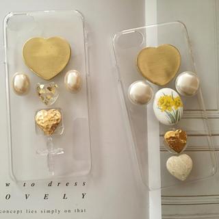 IPhone case ♡ gold(スマホケース)