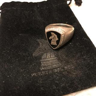プエルタデルソル(PUERTA DEL SOL)のプエルタデルソル☆チェスナイト エンブレムリング ブラック,ダイヤモンド(リング(指輪))