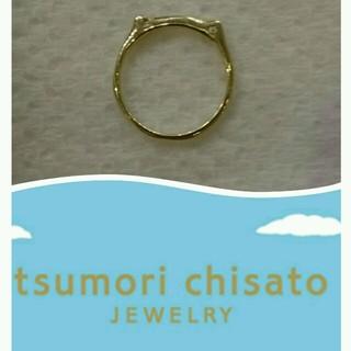ツモリチサト(TSUMORI CHISATO)の新品☆実はねこ😻なの☆シンプルピンキーリングはツモリチサトジュエリー3号(リング(指輪))