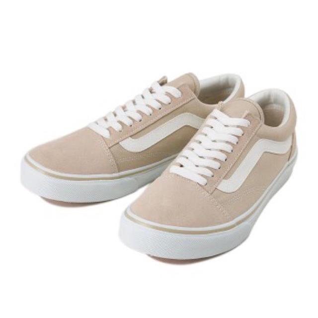 VANS(ヴァンズ)のVANS バンズ オールドスクール DX 23.5 ベージュ レディースの靴/