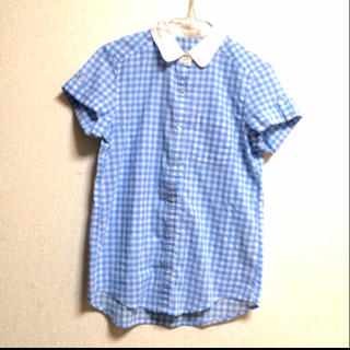 ジーユー(GU)のギンガムチェック♡爽やかシャツ(シャツ/ブラウス(半袖/袖なし))
