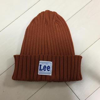 リー(Lee)の新品未使用LEE ニットワッチビーニーテラコッタブラウン(ニット帽/ビーニー)