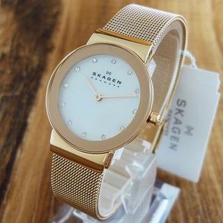 スカーゲン(SKAGEN)の新品 スカーゲン 腕時計 レディース 358SRRD ローズゴールド !フリル(腕時計)