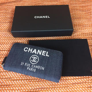 シャネル(CHANEL)のシャネル ドーヴィル長財布デニム♪(財布)