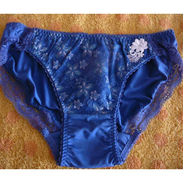 AMO'S STYLE(アモスタイル)のアモスタイル ショーツレースブルーLサイズわ レディースの下着/アンダーウェア(ショーツ)の商品写真