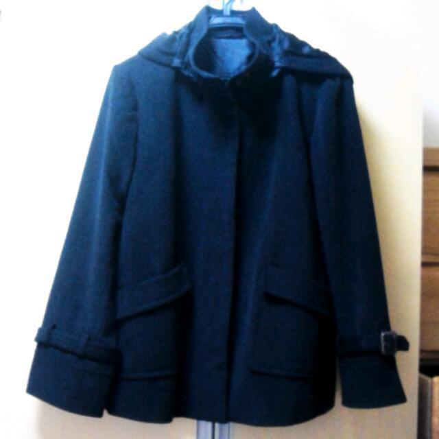 GU(ジーユー)のg.u.*黒コート レディースのジャケット/アウター(ピーコート)の商品写真