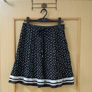 プーラフリーム(pour la frime)のドットプリーツスカート(ひざ丈スカート)