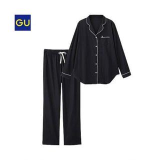 ジーユー(GU)のパジャマ パイピング ブラック(パジャマ)