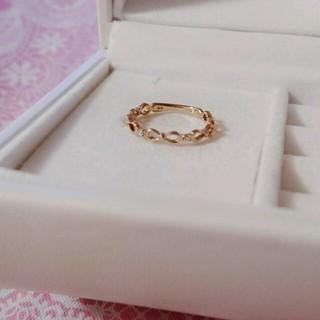 サマンサティアラ(Samantha Tiara)のサマンサティアラK18リボンピンキーリング(リング(指輪))